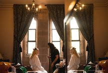 Getting ready wedding photographs / Photographs of bride and grooms getting ready before their wedding ceremony.