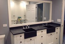 Humming Bird Woodworks - For the bathroom / The possibilities are endless with our custom cabinets for the bathroom.