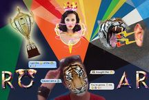 Roar - Katy Perry / My Photoshop Creation, it is based on Katy Perry's new single, Roar, with a tiger face, a trophy, a tiger roaring, and Teenage Dream album's photo.