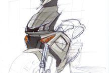 Motorcycle-Design&sketch&rendering