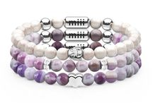 Miii Starter Stacks / With your choice of stunning semi-precious stone bracelets and meaningful 18k white gold charms that stack and stay together, expressing yourself has never been more 'attractive'. All Miii bracelets cleverly contain two magnetic charms that make it possible to attract and attach to adjacent Miii bracelets  Wear individually, or collect and connect to make new stacks everyday!