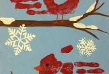 zimowe pracė plastyczne