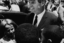 Dr. Martin Luther King, Jr. and Senator Robert F. Kennedy—MLK And RFK / A board featuring photos and inspirational quotes from Dr. Martin Luther King, Jr. and Senator Robert F. Kennedy. / by Bill Boulton