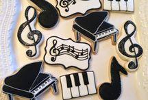 Cookie art musieknoot