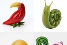 Legumes decorados / Artes em legumes