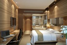 Contemporary hotel bedrooms