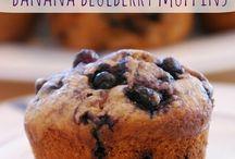 Banana blueberry muffin