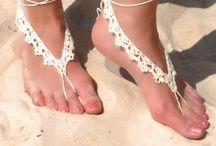 Sandálias de chochê