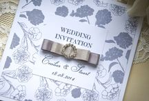 Wedding Stationery - Elegant Rose Collection / Our classic handmade Elegant Rose collection is printed on high quality extra smooth card and decorated with ribbon bow tied in a rhinestone circle buckle. www.serendipityweddingdesign.co.uk