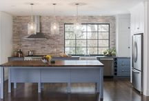 brick wall/kitchen