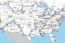 On The Road Again / Road, highway, trip travel, maps
