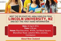 Delegate Visit in Coimbatore / Abroad education in mind? Study in New Zealand. Meet the delegate from Lincoln University, NZ