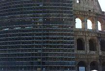 Avresti voluto vederlo bene e fotografarlo ma.... Restoring great monuments / Vi sara' capitato di andare in un paese per visitare un'attrazione e trovarla in restauro?