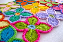 Crochet motifs  / granny squares, hexagons, triangles, flowers, edging