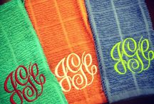 monogrms and embrodiery