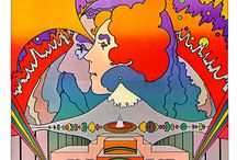Groovy / 1970's art nouveau revival posters, ads and designs - psychedelia, peace-love-drugs, blacklight