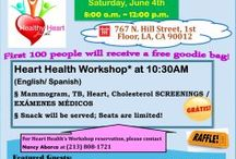 """Summer Health Fair 2016 / """"Summer Health Fair - Heart Awareness Month"""" on June 4th, CHC will collaborate with Alinea Medical Imaging in providing of free mammograms to low-income women ages 40 and over (must have Medi-Cal, be a CA resident and No Mammogram within the last year) and also have APA Health Care, a UCLA-based group in providing of free health screening services, included of blood pressure, body fat density and Hepatitis C screening and many more of Tuberculin skin (TB) test, heart and cholesterol screenings."""