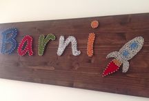 String art for kid / Own name board prepared for my kid
