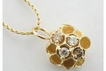 Paper Wasp Series by Micky Roof / Cast from a real paper wasp nest, these jewelry pieces by Micky Roof are like nothing else on the market!