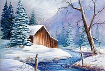winterlandschaftsmalerei