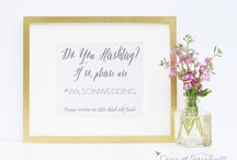 Wedding Signs / by Grace and Serendipity - Wedding Planning and Paperie Design