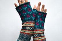 manchon tricot