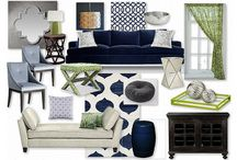 Navy & Lime Living Room