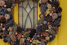 Венок на дверь / Венок из природных материалов