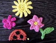 Crochet Appliques/Magnets / by Barbara Binda