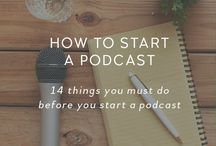Podcasting Tips / Thinking of starting a podcast? Follow this board for podcasting tips and tricks to produce a successful podcast and grow your subsubribers.
