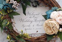 wreath / after wedding