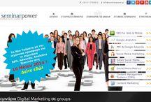 Σεμινάρια - Υπηρεσίες περιγραφές / Βασικές υπηρεσίες Digital Marketing Seminars για επιχειρήσεις, επαγγελματίες και ιδιώτες.