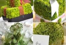 esküvői dekoráció zöld