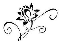 Disegno tatuaggio loto