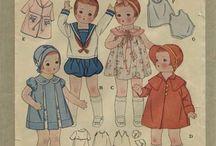 Эскизы детской одежды / Эскизы детской одежды Vintage kids fashion