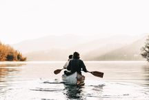 Carry me in a canoe / Canoeing, canoe, canvas canoe, Canada, Sweden, outdoor, nature, river, lake, forest, traveling, paddling, paddles, boat,