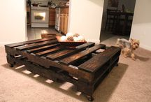 Pallet coffee table / Dark stained