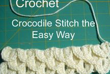 crochet slippers crocodile stitch