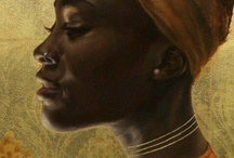 Paintings of African queen