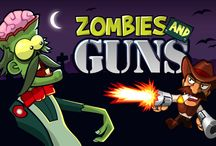 Zombies And Guns / A free zombies shooter game from the Wild West! A zombie infection attacked your town! You can stop the infection only when you shoot all the undead to the hell! An Indian legend says than only The One can defeat the death! Are you the hero? Grab your guns and protect good people from Desert Town, hero! They will help you defeat the evil! No zombie allowed in this country. Upgrade your guns, hire some help and equip yourself to survive on various missions in the infested Wild West desert.