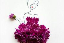Robes fleurs