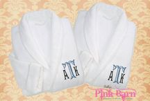 Luxurious Shawl Neckline His Her's Personalized Terry Velour Robes