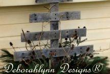 Pallet Trees / Rustic pallet Christmas trees by Deborahlynn Designs ® designer and owner of Rhythm-n-Beads ®
