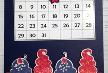 MY 5X7 CALENDARS / Stampin Up inspired 5X7 calendars! / by Barbara Charles