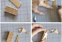 como hacer sellos en corcho