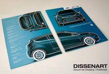 Diseño Publicitario para Vedat Mediterraneo / Diseño de cartelería publicitaria para los concesionarios oficiales de Ford en Valencia, Vedat Mediterráneo.