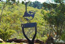 Arte da giardino in metallo