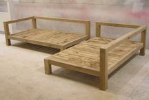 wood sofa set 1