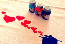 Estampas / Estampas pintadas pelas minhas mãos