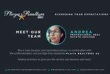 Meet Our Team / We are so proud of our Co Workers Team. Meet the Playa Realtors 4U Team